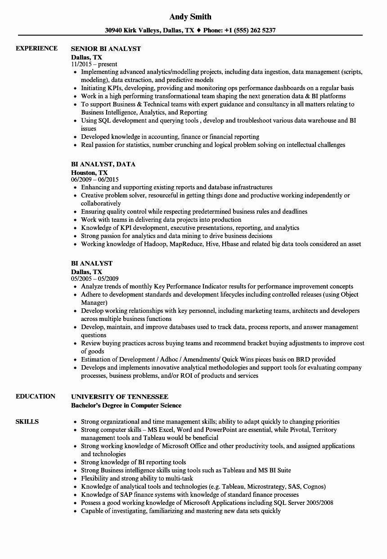 Servicenow Business Analyst Resume Best Of 50 Elegant Power Bi Developer Resume In 2020 Project Manager Resume Marketing Resume Customer Service Resume