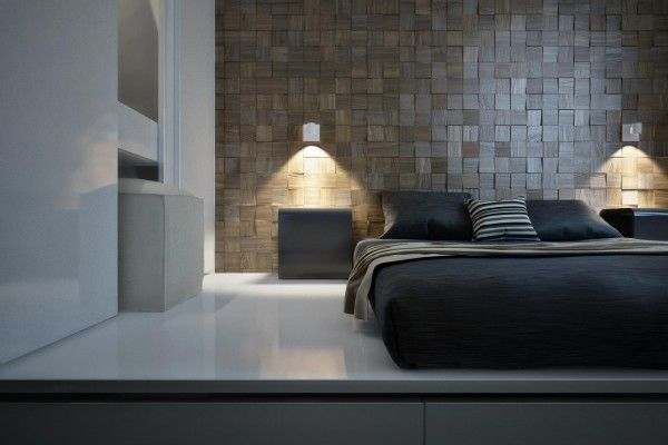 dynamische moderne interior designs wandgestaltung schlafzimmer ...