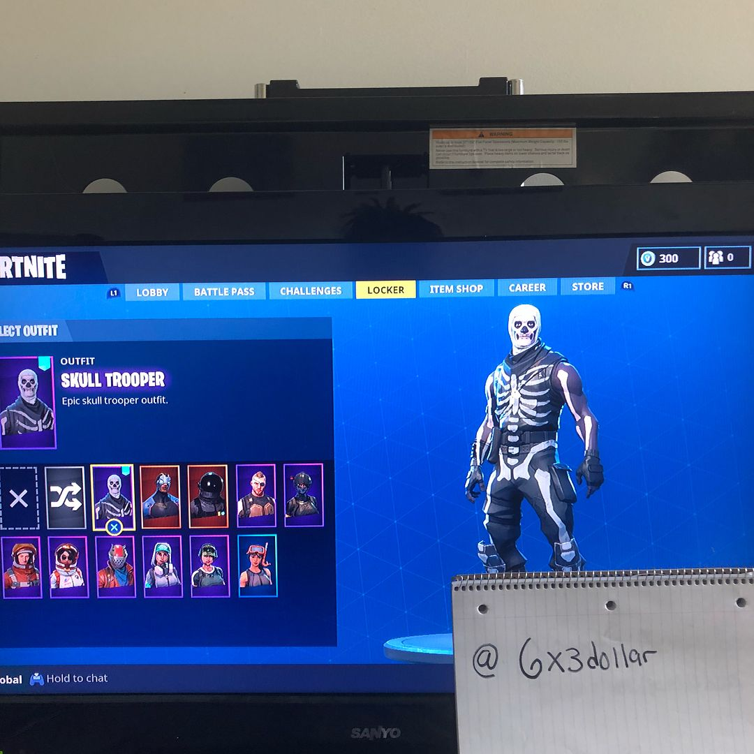 e5f856322fb4 Fortnite account for sale/trade skull trooper etc account (Season 4 tier  55) .. dm with offers will trade for ghoul trooper gingerbread red knight  crackshot ...