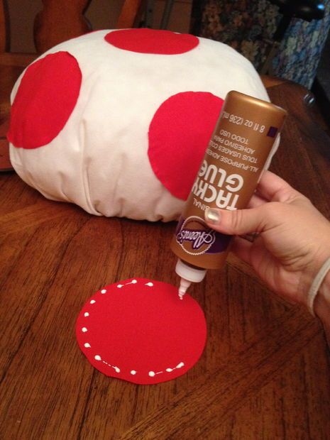 4987fe9a395 DIY Mario Kart Toad + Toadette Mushroom Hat
