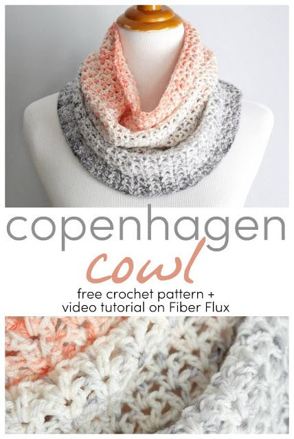 Copenhagen Cowl, Free Crochet Pattern + Video