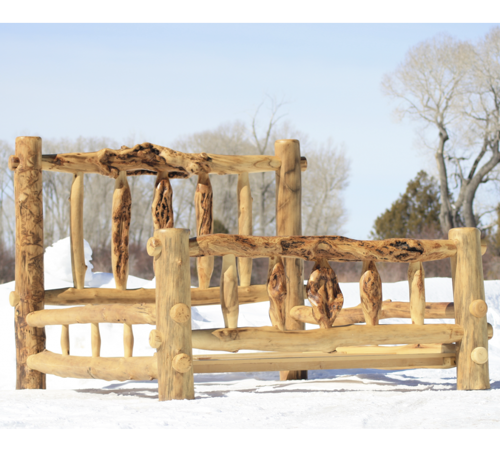 Make Log Furniture Any Way You Like It Huts Fishing Hunting