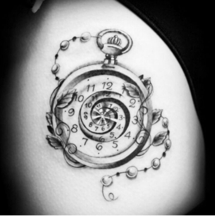 Pocket Watch Tattoo- No Middle Numbers And Add The Time