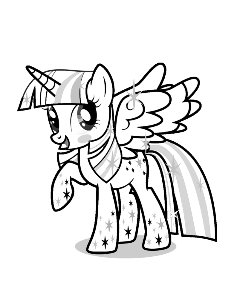 Twilight Sparkle Coloring Pages Best Coloring Pages For Kids Twilight Sparkle Unicorn Coloring Pages My Little Pony Twilight