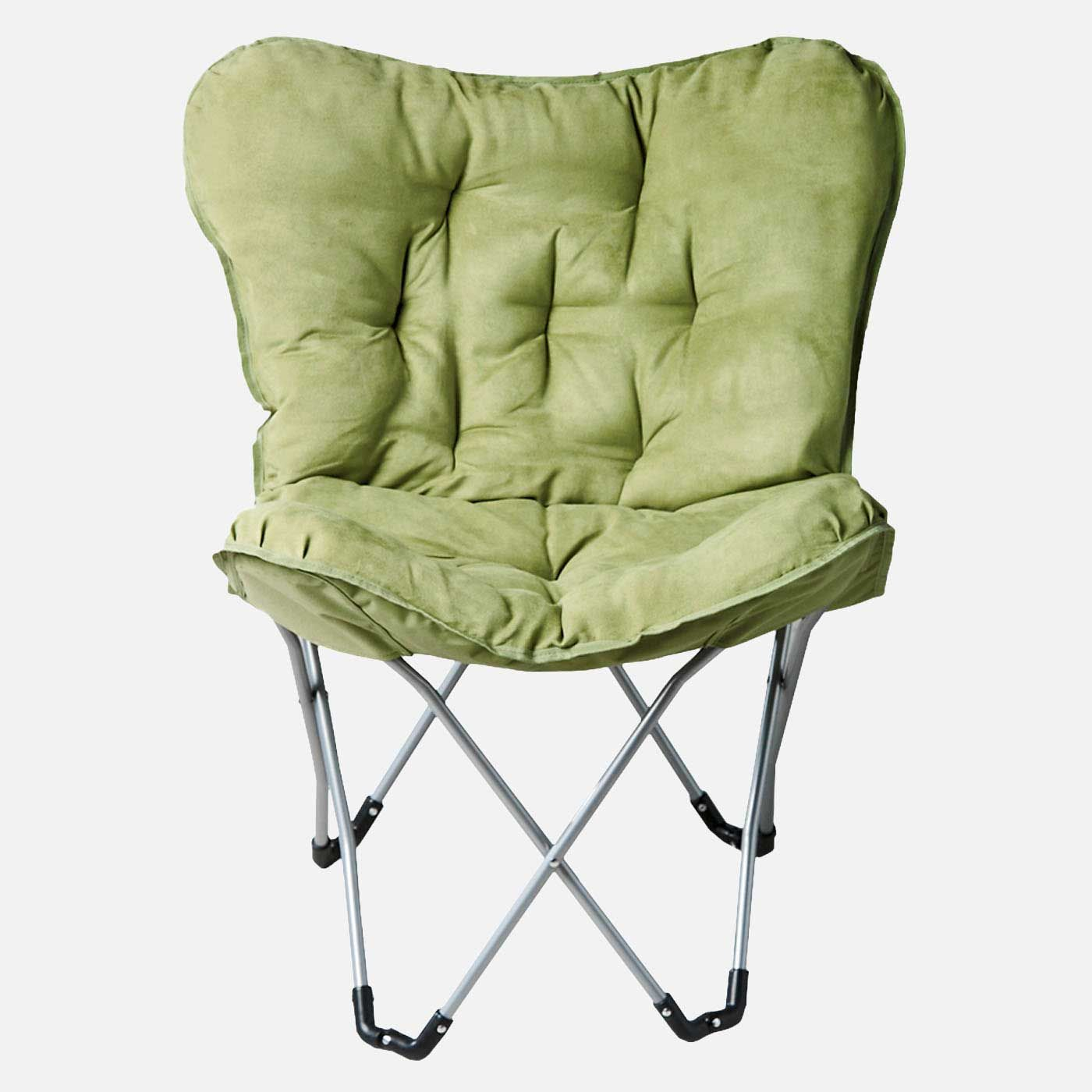 Attrayant Stylish Green Folding Chair With Cushion