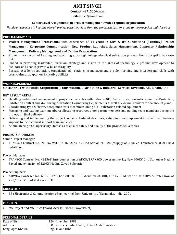 Fresher Resume format for Sales Executive Fresher Resume
