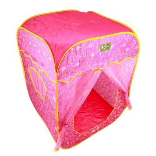 Kids Authority Indoor/Outdoor Magic Castle - Tent For KIDS - Pink by Kids Authority. $49.95. Perfect for every little kid, the My Sweet Princess Pop Up House provides a secret getaway from adults. This pretty pink tent has an entrance decorated with shimmery pink organza and super cute princess and star graphics. Great for at-home entertainment, a day at the beach, and more, this pop up house is every little girl's dream escape.  Easy to use, the tent folds and unfo...