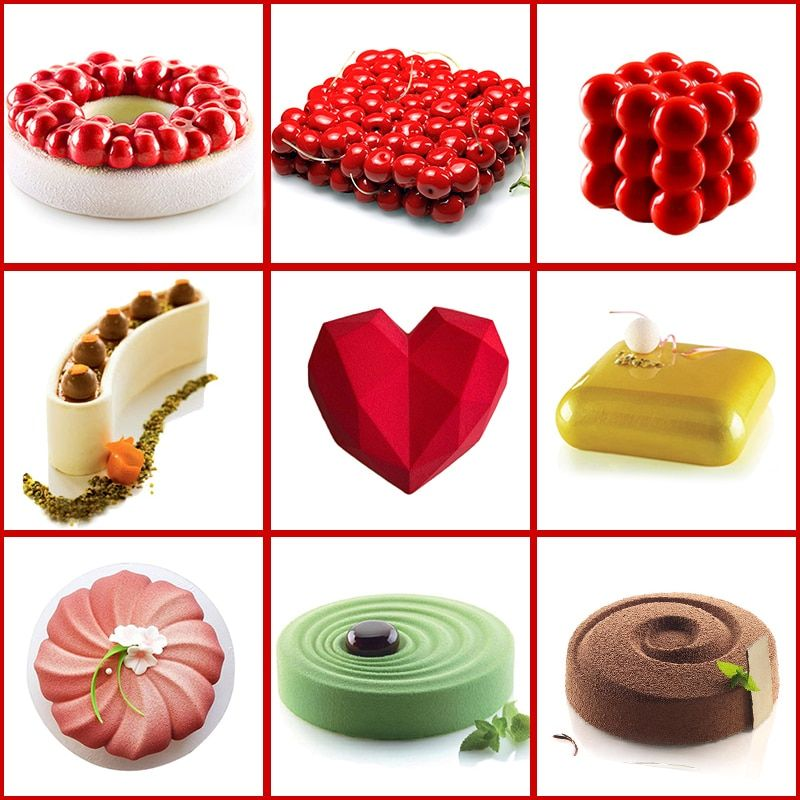Cake Decorating Mold 3d Silicone Molds Baking Tools For Heart
