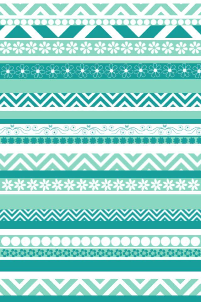 Green Aztec Wallpaper