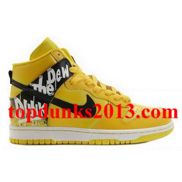Custom Lemon Do The Dew Nike Dunk Men High Top Fast Shipping