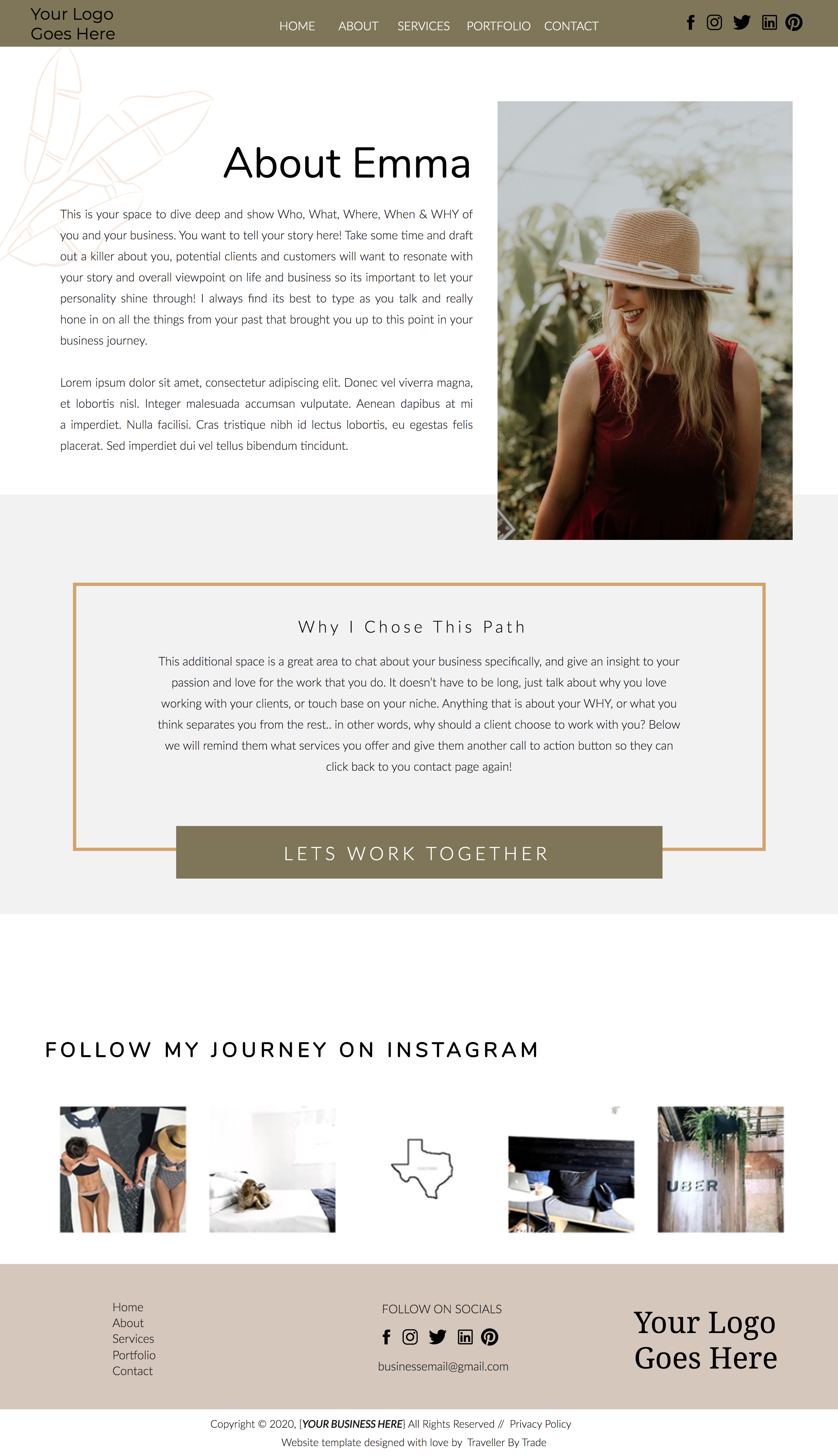 Portland Oregon Showit Website Template In 2020 With Images Website Template Design Showit Website Photography Website