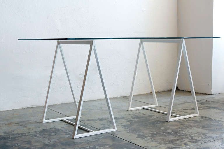 Minimalist Saw Horse Triangle Table Legs, C. 1960s Image 2
