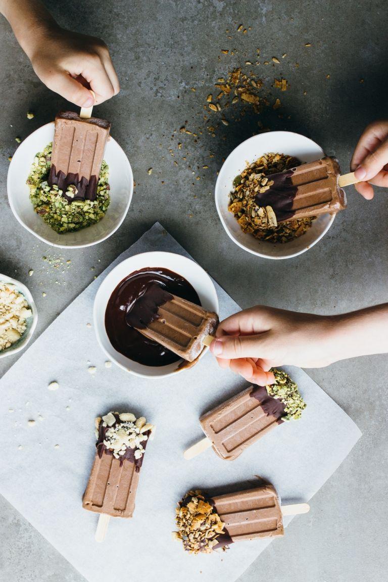 kids chocolate protein pops