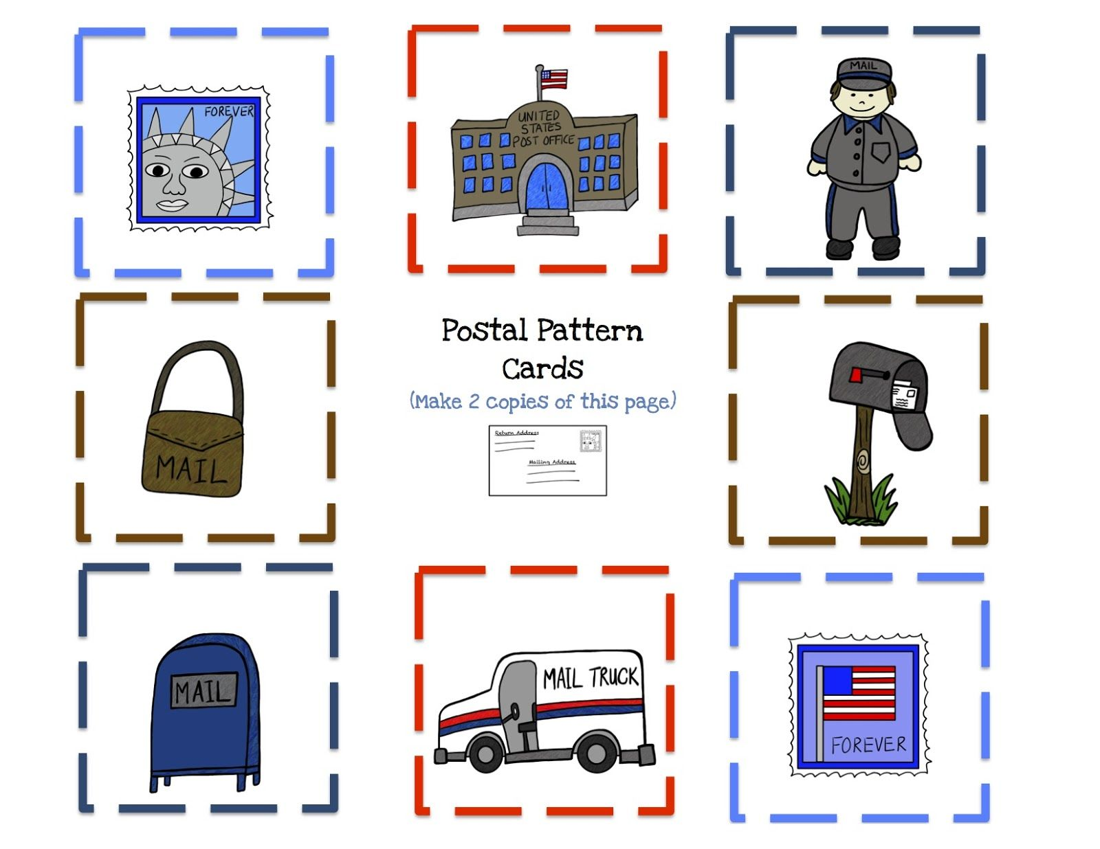 Preschool Printables Community Helper Postman Printable