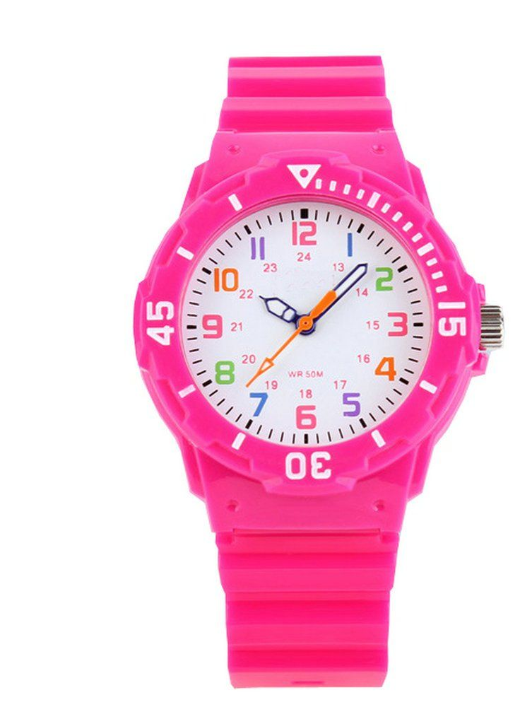 Boys Girls Colorful Analog Resin Waterproof Strap Sport Watches Rose. 100% brand new with high quality. 12/24 hour display. imported movement. 30 meters waterproof, do not press the button in the water. Type: Wrist Watch, Fashion Watch,sports Watch.