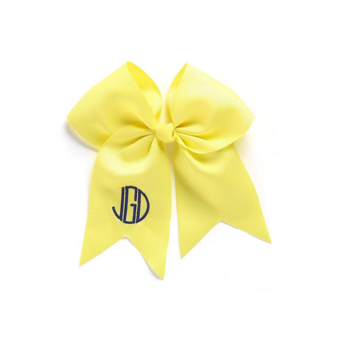 Yellow Monogram Infant Hair Bow