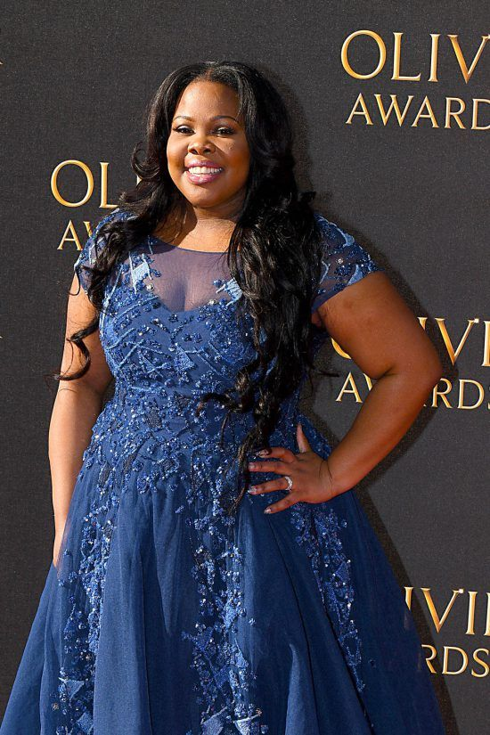 Amber Riley Picks Up Her Olivier Award for Best Actress in A Musical Looking Like a Diva