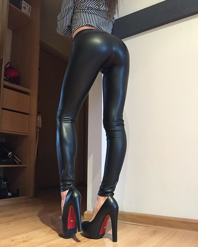 Angels in Tight Leggings and High Heels   Women s Fashion   Leggings ... 37e70a215b