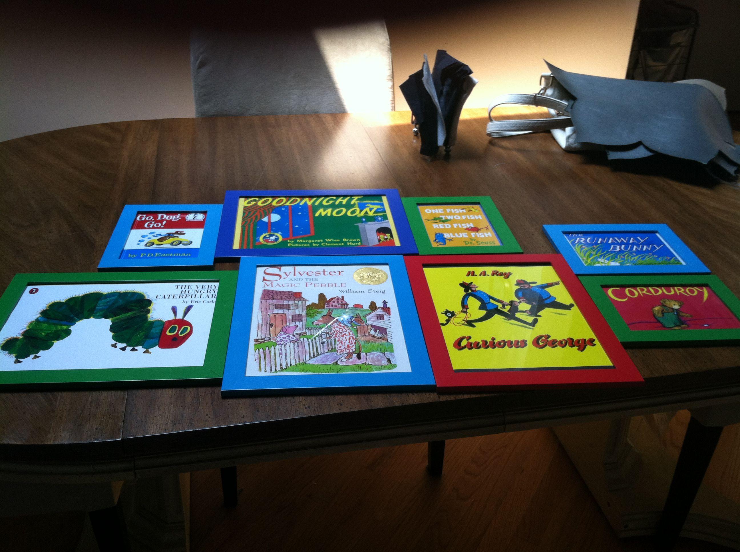 Framed Childrens Books Covers