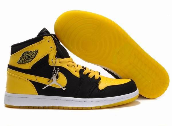 Air Jordan 1 Retro Shoes Yellow Black Air Jordans Retro Air