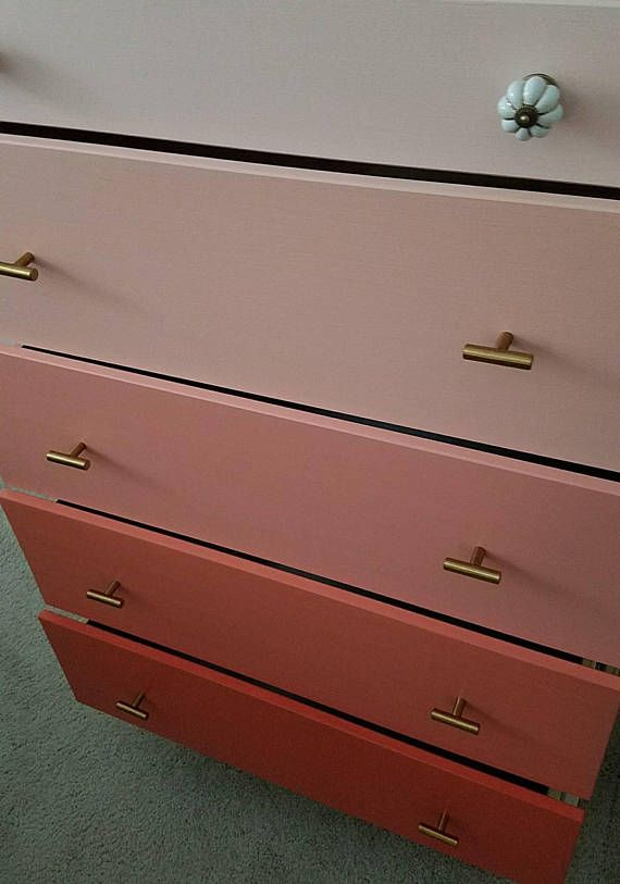 Ombre Dresser 5 Drawer Custom Pick Your Color Tall Chest Of