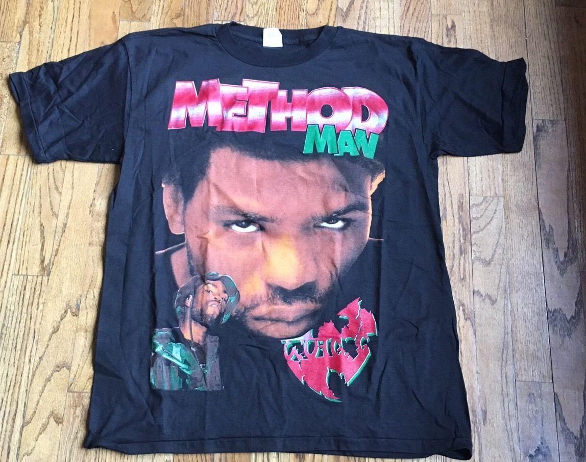 Vintage Wu Tang Method Man 90s Bootleg New Old Stock Biggie 2pac Tupac Wu Wear Vintage Rap Tees Vintage Tshirts Cool T Shirts