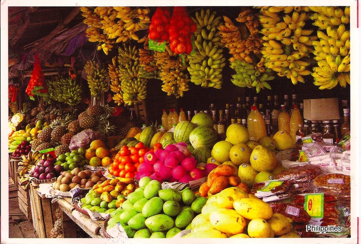 Postcard from the Philippines via a private swap | Fruit stands ...