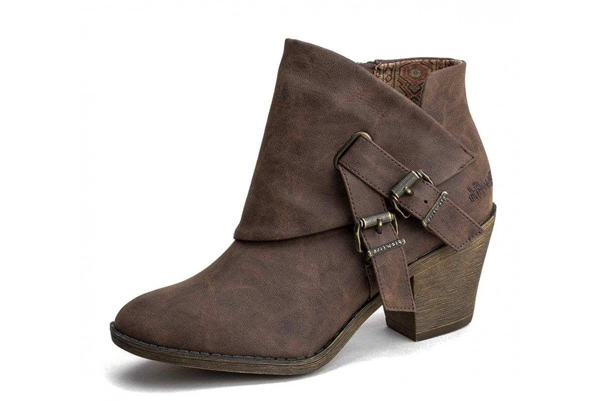 566f8ce597b6c Blowfish Strum Coffee Texas Brown High Heel Ankle Boots | Fashion ...