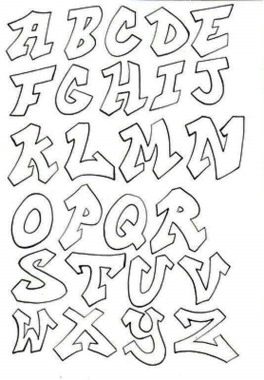 Abecedario Graffiti Lettering Fonts Lettering Alphabet Graffiti Lettering