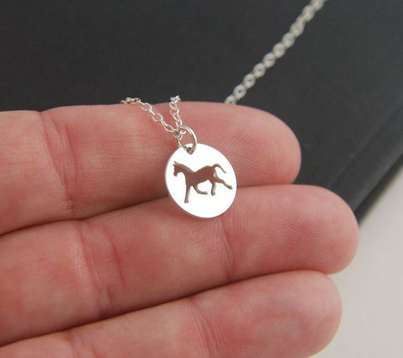Horse charm necklace in sterling silver equestrian western jewelry horse charm necklace in sterling silver equestrian western jewelry horse pendant animal aloadofball Gallery