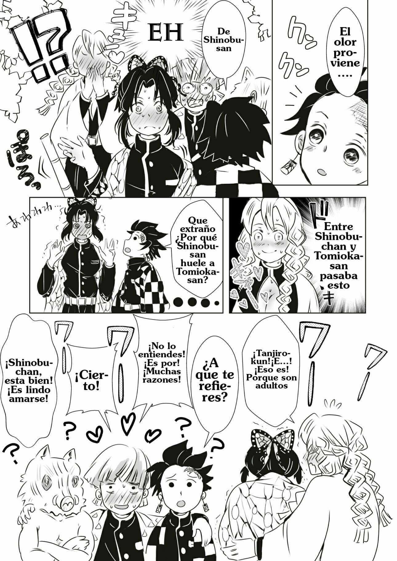 Aquí algunos Doujinshis traducidos de kimetsu no yaiba