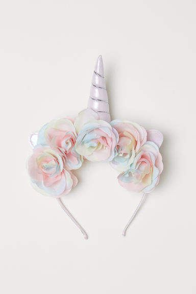Pink Unicorn Set 2 Pcs Adult Fluffy Tail Ears Headband Easter Party Accessory