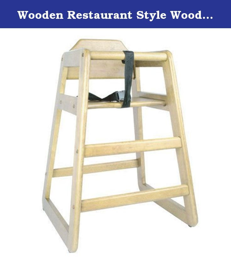 Wooden Restaurant Style Wooden High Chair For Infant With Seat