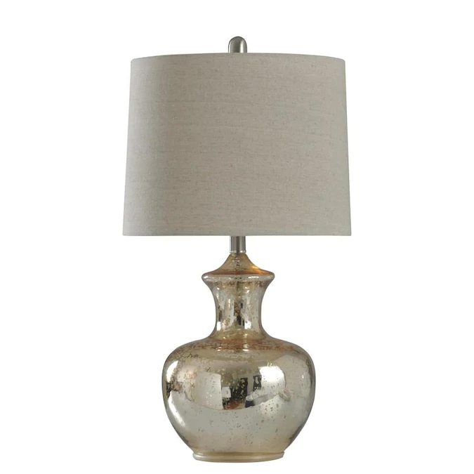 Stylecraft Home Collection 25 In Silver Mercury 3 Way Table Lamp With Fabric Shade Lowes Com In 2021 Mercury Table Lamp Glass Table Lamp Mercury Glass Table Lamp