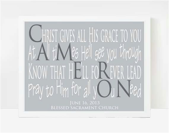 Godson Baptism Gifts Boys Christening By LarkRoadRhymes