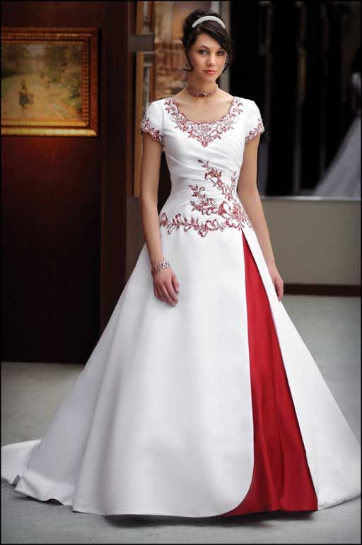 Red Wedding Dresses Modest Gowns Formal