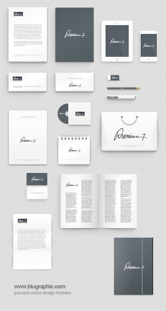 corporate identity photoshop mock-up (psd) | corporate identity, Presentation templates