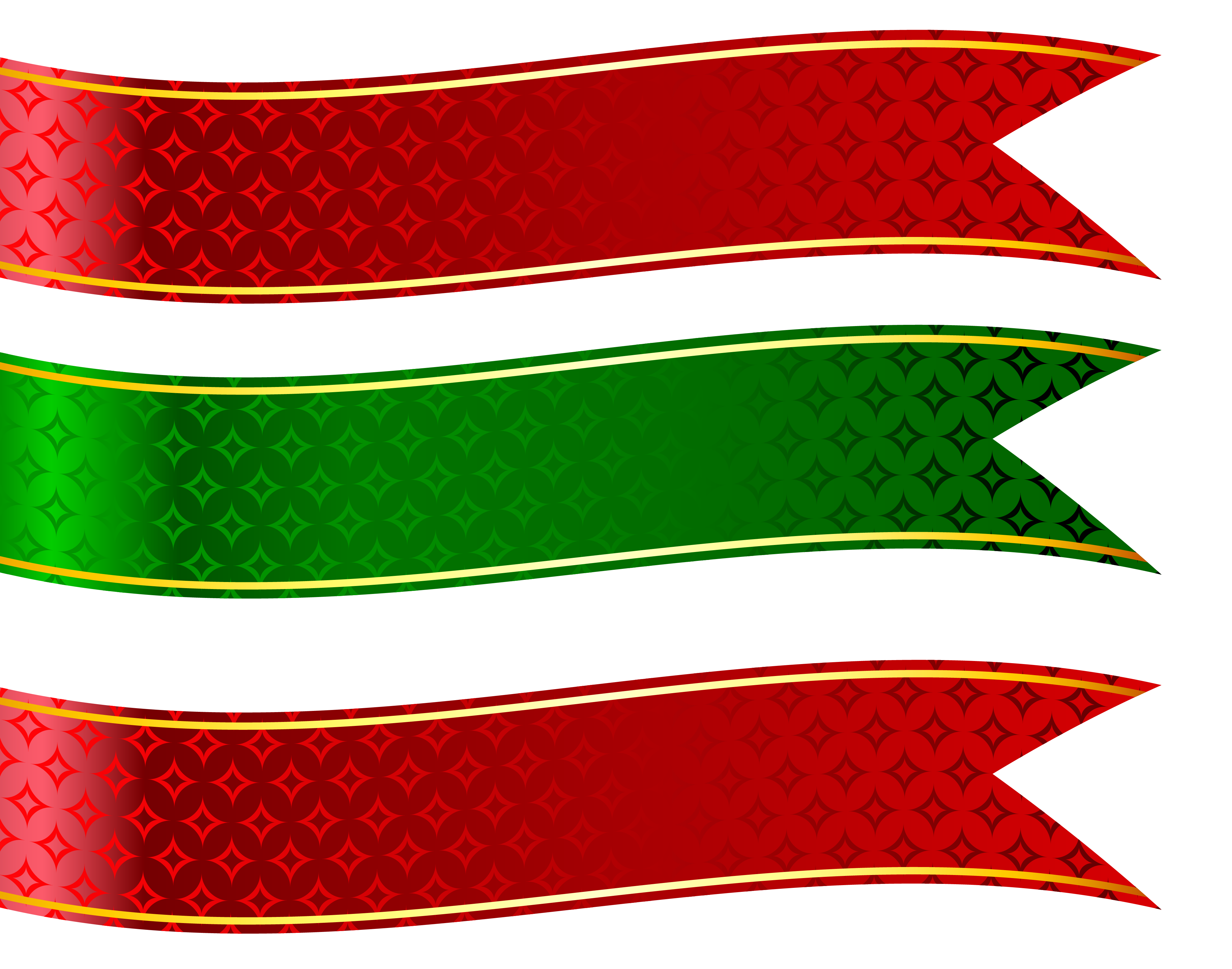 Green And Red Banners Set Png Clipart Picture Png 4027 3165 Banner Shapes Free Clip Art Picture Banner