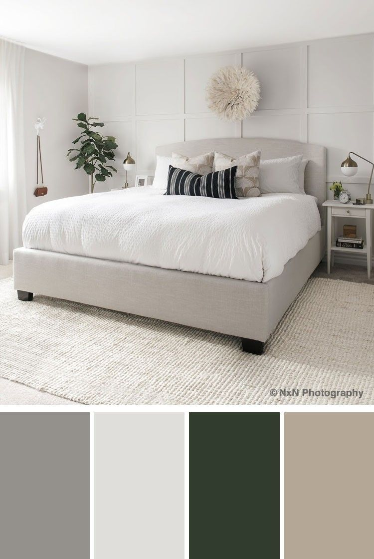 Pin By Aliena On Bedroom Block Grey Colour Scheme Bedroom Bedroom Color Combination Grey Bedroom Colors