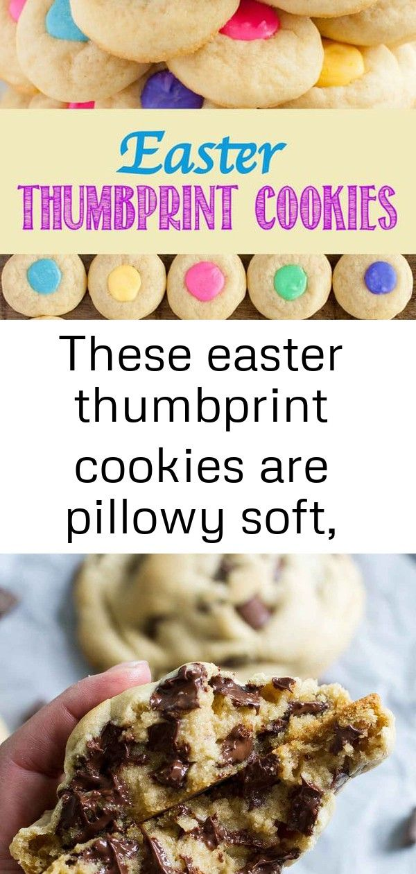 These easter thumbprint cookies are pillowy soft perfect sugar cookies with pretty pastel white 5 These Easter Thumbprint Cookies are pillowy soft perfect sugar cookies w...