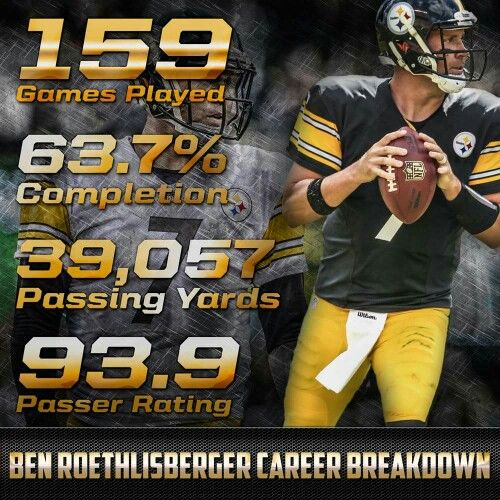 Big Ben Stats Pittsburgh Steelers Football Pittsburgh Steelers Steelers Football