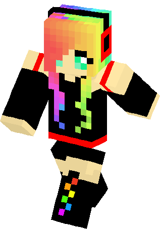 Emo Rainbow Girl Skin | Minecraft Skins | girls skins | Pinterest ...