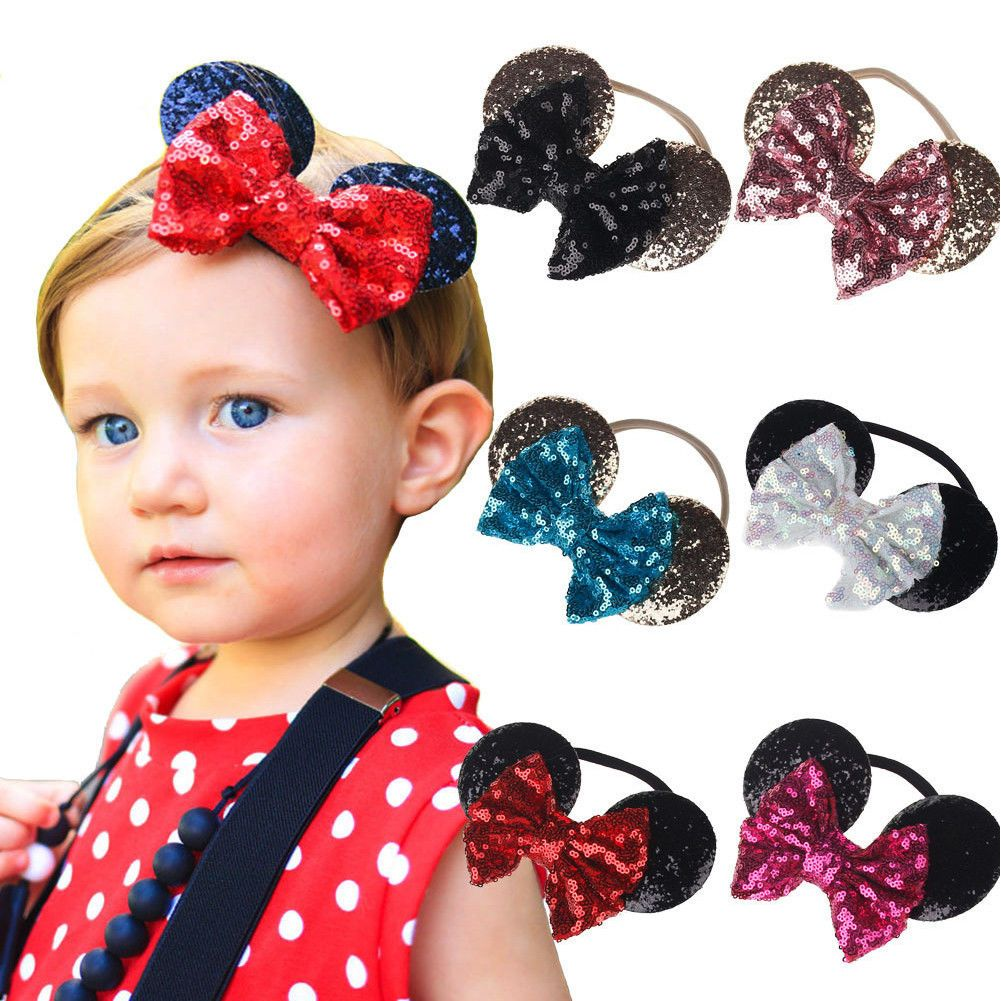 Girl Kid Child Baby Elastic Princess Party Minnie Mouse ear soft Hair Head Band