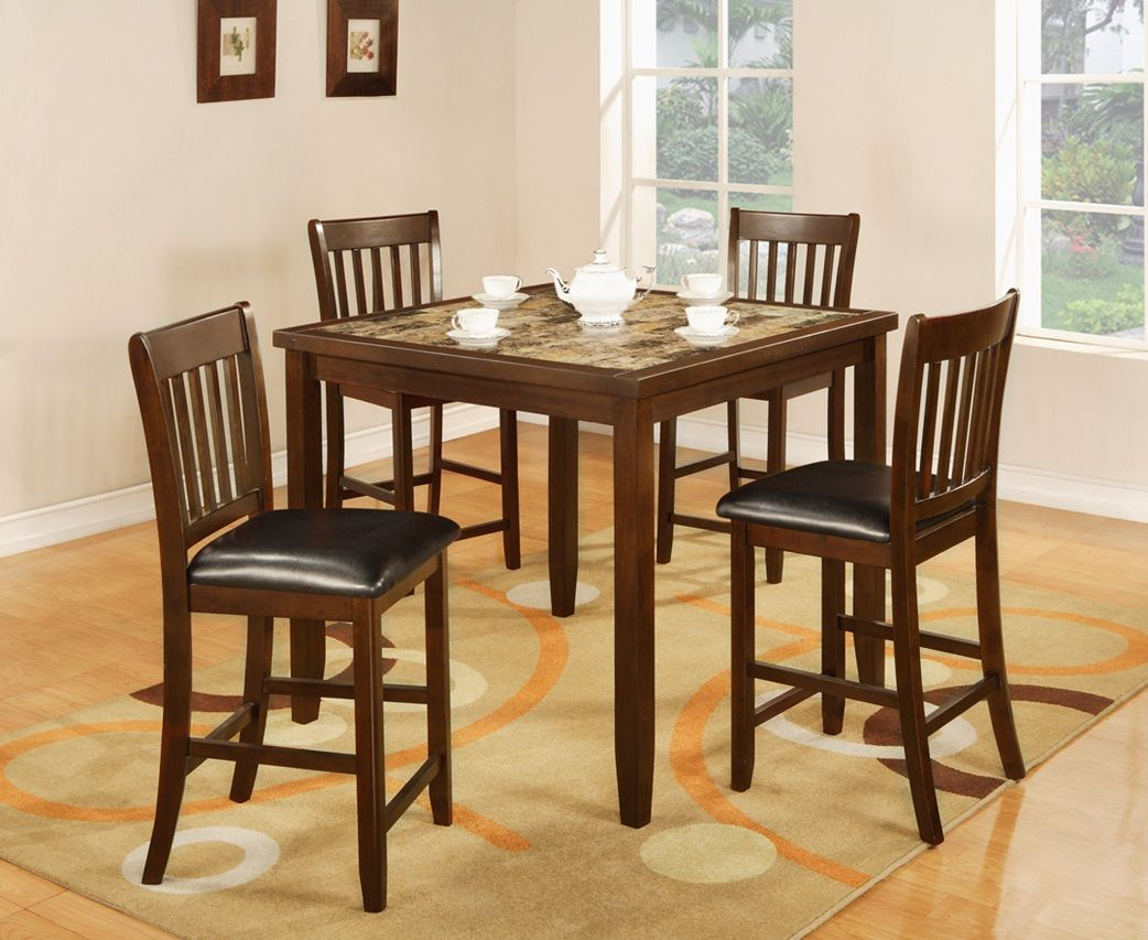 Bar height square kitchen table  piece dining set  Dining Room Furniture  Pinterest  Dining and Room