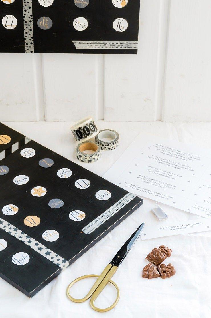 Adventskalender Countdown Kalender Geburtstag DIY Einfach Schnell Erwachsene Achtsamkeit