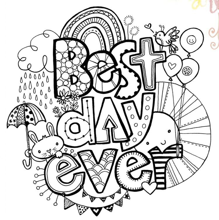 Best Day Ever Coloring Page Coloring Pages Inspirational Bible Verse Coloring Page Coloring Books