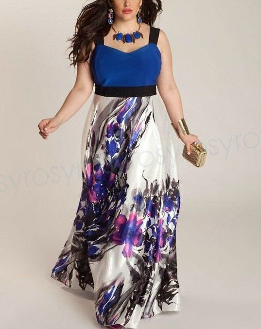 9af95b58642 Plus Womens Summer Floral Boho Maxi Long Evening Party Casual Beach  Sundresses