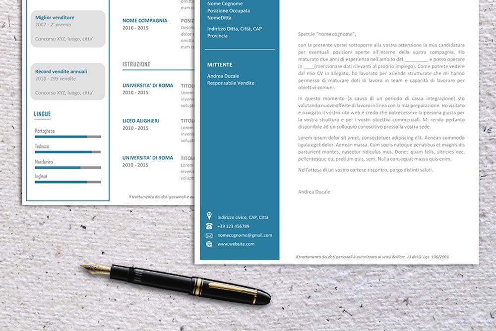 Modello Curriculum Vitae Da Scaricare E Compilare Lettera Di Presentazione Inclusa Nel Pacchetto Curriculumvi Modello Curriculum Curriculum Vitae Modello Cv