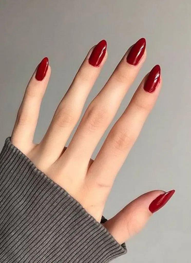 25 Pretty Red Acrylic Nail Art Design Ideas 8