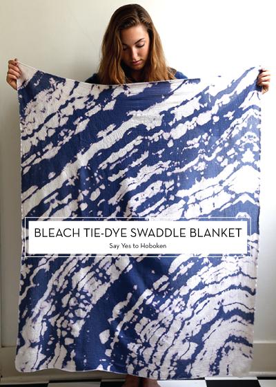 12 NOVEMBER DIYs – Bleach Tie-Dye Swaddle Blanket